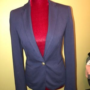 Zara Basic Single Button Navy Blazer Size XS
